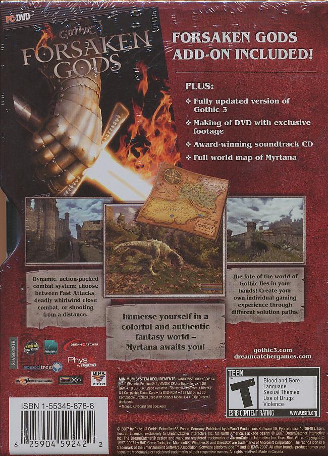 Gothic 3 Collector's Edition (Metal Tin w/ Forsaken Gods Exp