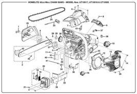 Homelite, Craftsman muffler assy 309310001 chainsaw - $89.99
