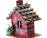 "4.25"" Red Plaid Country Cabin Christmas Ornament - tkcc"