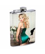 Ukraine Pin Up Girls D9 Flask 8oz Stainless Steel Hip Drinking Whiskey - $13.81