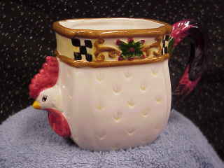 Novelty Rooster Coffee Mug