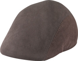 Henschel Cotton Corduroy Formed Duckbill Riding Cap Closed Back Brown Black - £31.30 GBP