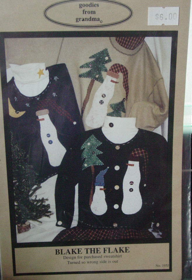 Primary image for Pattern Snowmen Applique  for Pre-made Sweatshirt