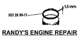 Husqvarna 503289011, 503 28 90-11 1.5mm Piston Ring fits models listed OEM new - $16.99