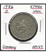 "1986 D, West Germany(FRD): 5 Mark Commemorative ""Heidelberg University"" ... - $5.95"