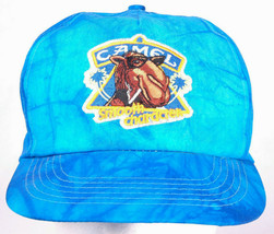 CAMEL Smooth Character Trucker Hat-Tie Die Blue-Vtg-Tobbaco-Cigarette-Sn... - $16.82