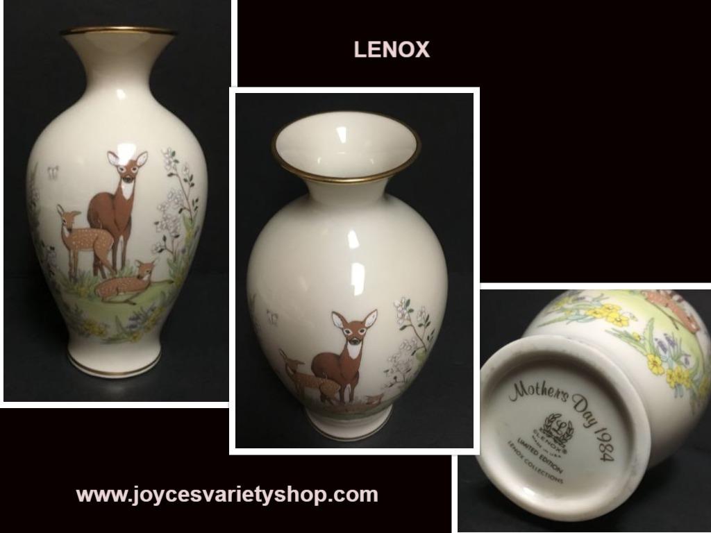 Lenox deer vase web collage