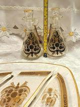 RARE 1950's Georges Briard Sonata Dove Rectangle Glass Tray & Cruets V&O image 5