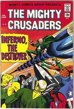 The Mighty Crusaders Comic Book #2, Archie Comics 1966 VERY FINE - $42.56