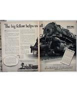 1937 Association of American Railroads Safety 2 page Ad - $5.00