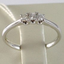 Anillo Oro Blanco 750 18K, Trilogy 3 Diamantes Quilates Total 0.16 , Vástago image 2