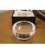 Oleg Cassini Crystal Pillar Candle Holder Julia NEW IN BOX - $42.00