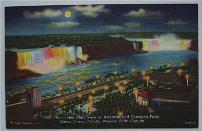 1940's PC American & Canadian Falls, Niagara Falls NY