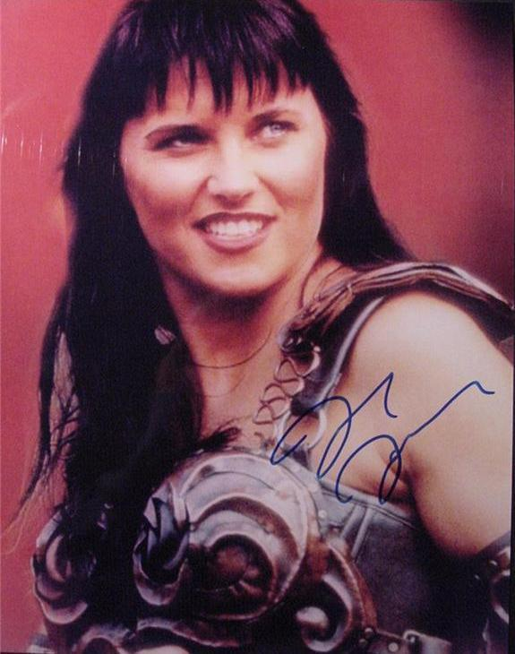 Lucy Lawless as Zena hand signed autographed photo