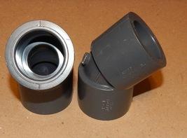 "1"" Gray PVC Schedule 80 Nibco 45 Degree Elbows Slip X Slip 2eaD2467 NSF ... - $7.49"
