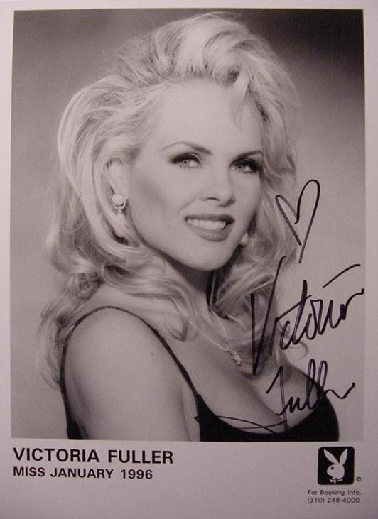 Victoria Fuller hand signed Playboy playmate promo photo