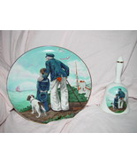 Norman Rockwell's Looking Out To Sea Plate & Bell Set - $49.00