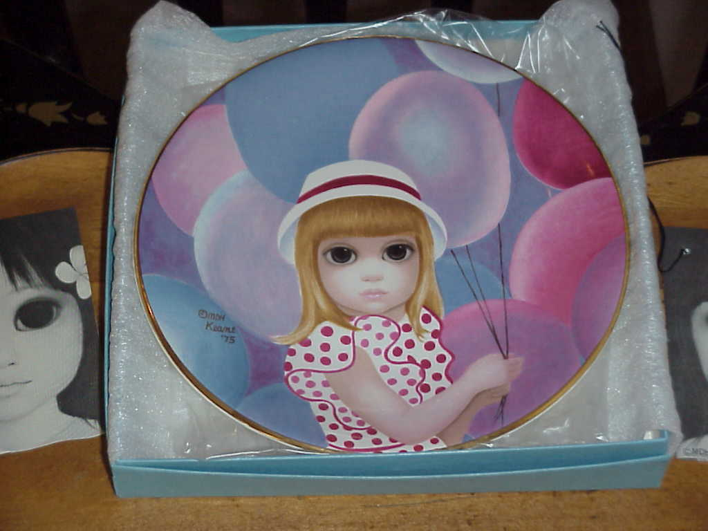Copy of plate  p  baloon girl
