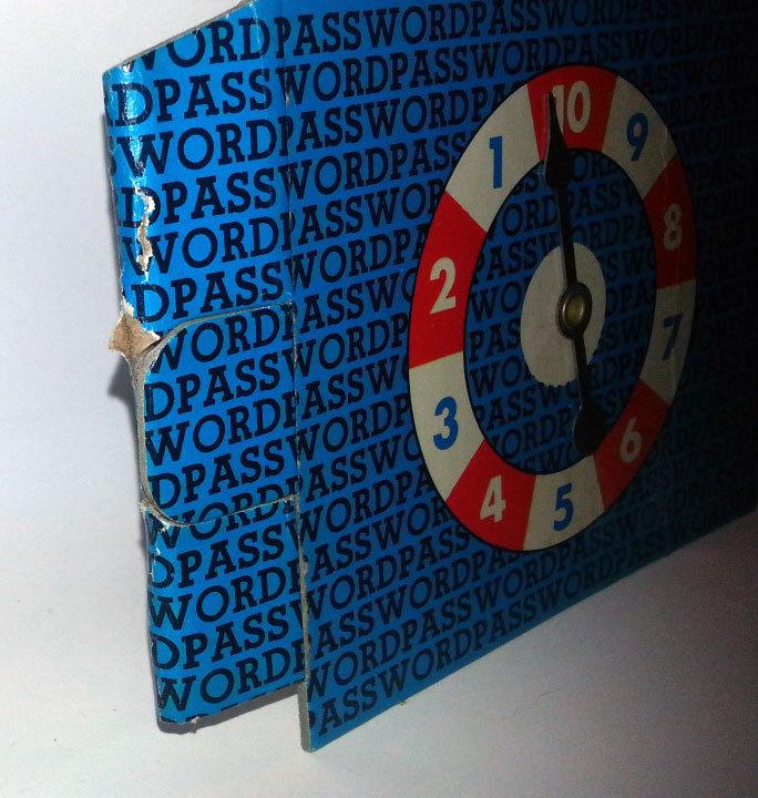 Password Milton Bradley Board Game Replacement Pieces * Vol. 4 / 1964 Edition