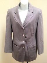 Colour Eighteen 4 Blazer Purple Wool Riding Jacket Pockets Spring - $21.54