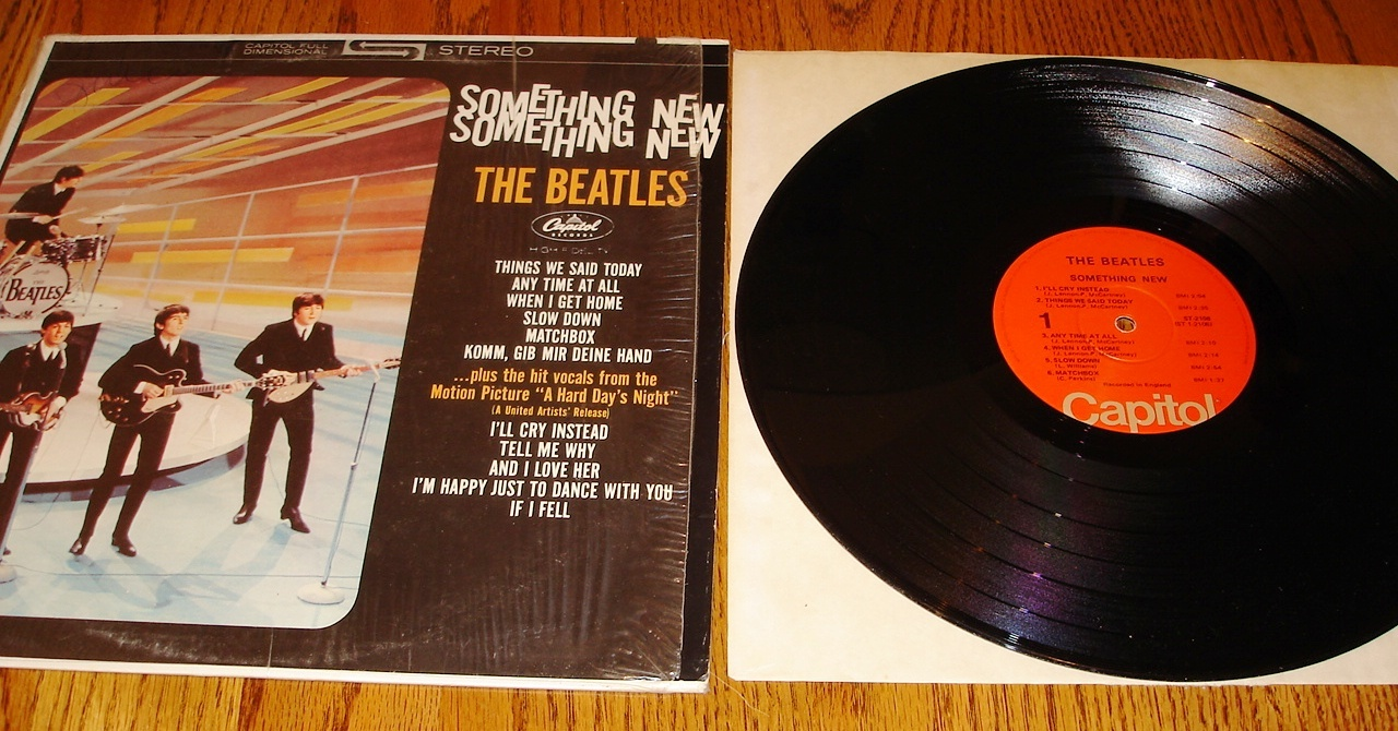 BEATLES SOMETHING NEW ORANGE LABEL LP CAPITAL