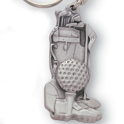 "Golf Bag Key Chain Pewter "" Very Nice"""