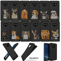 For Samsung Galaxy Note 9, Case Dog Designs Slim Black Flexible TPU Cover - $9.89