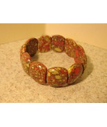 BRACELET RED JASPER GEMSTONE STRETCH New #861 - $12.99