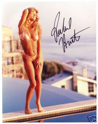 Rachel Hunter  hand signed autographed photo sizzling hot
