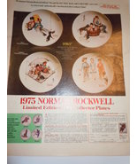 Vintage Joy's Limited Edition Norman Rockwell Plates Print Magazine Adve... - $4.99