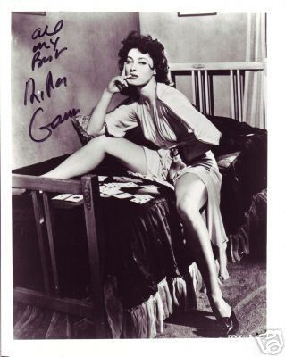 Rita Gam hand signed sexy photo smoking cigarette