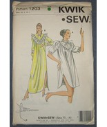Kwik Sew sewing pattern 1203 - Nightgown - Size... - $5.50