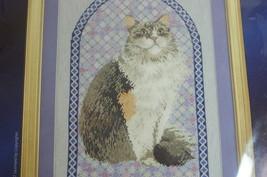 Cross Stitch Cat Kit Lesley Ivory Agneatha Cat Complete NIP! - $20.00