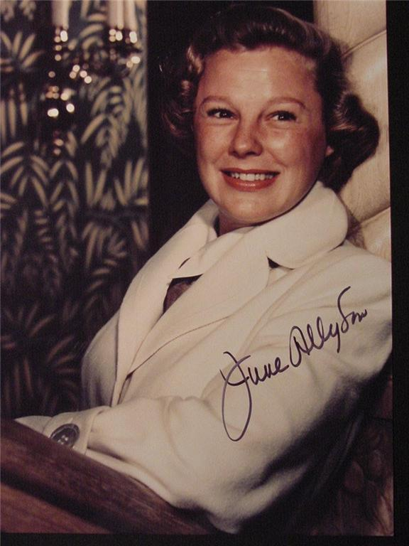 June Allyson hand signed autographed photo