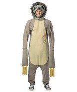 Sloth Costume Adult Jumpsuit Men Women Animal Halloween Party One Size G... - $64.99