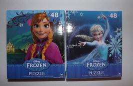 Disney Frozen Queen Elsa, Olaf, Princess Anna 48 Piece Puzzle Set Cardinal - $7.69