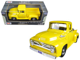 1955 Ford F-100 Pickup Truck Yellow 1/24 Diecast Model Car by Motormax - $33.59