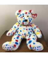 TY Beanie Babies Ty 2k Bear Confetti Plush Stuffed Animal Toy 1999 Retir... - $26.79