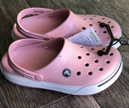 Crocs Crocband II Clogs Sandals Light Pink White Women Size 7 new with tags on - $41.99