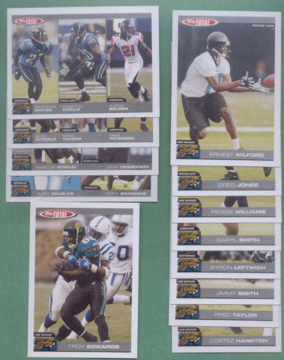 2004 Topps Total Jacksonville Jaguars Football Team Set