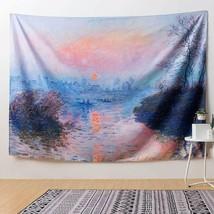 "Tapestry Monet Painting Sunrise Horizon Lake Impression 51"" x 59"" Wall H... - $29.00"