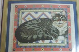 Cross Stitch Cat Kit Lesley Ivory Gemma Cat Complete NIP! - $20.00