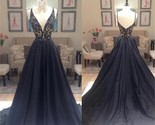 neck a line elegant custom party cocktail evening long prom dresses online pd0198 thumb155 crop
