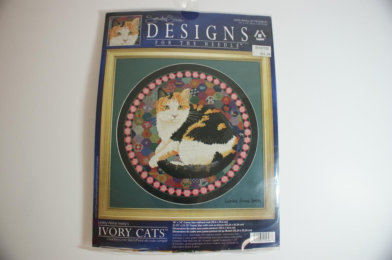 Cross Stitch Cat Kit Lesley Ivory Becky Cat Complete NIP!