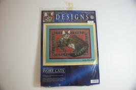 Cross Stitch Cat Kit Lesley Ivory Muppet Cat Complete NIP! - $20.00