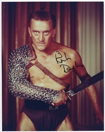 Kirk Douglas Spartacus hand signed sexy photo