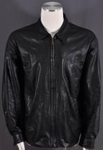 Missani Le Collezioni Black Genuine Leather Zip Pocketed Bomber Men's Ja... - $75.99
