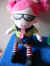 "HOBBY LOBBY PLUSH DOLL 15"" TALL GIRL VGC CUTE with sunglasses shades - $12.16"