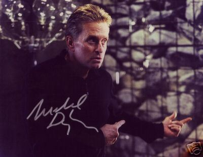 Michael Douglas hand signed autographed Wall Street photo