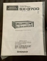 Original Pioneer SX 3700 Owners Manual Unopened with LaserDisc Color Bro... - $29.70